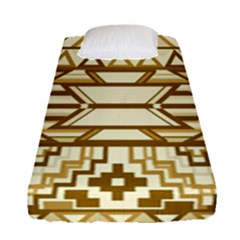 Geometric Seamless Aztec Gold Fitted Sheet (single Size) by Mariart