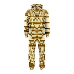 Geometric Seamless Aztec Gold Hooded Jumpsuit (kids) by Mariart