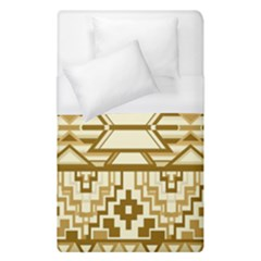 Geometric Seamless Aztec Gold Duvet Cover (single Size) by Mariart