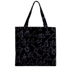 Geometry Geometry Formula Zipper Grocery Tote Bag by Mariart
