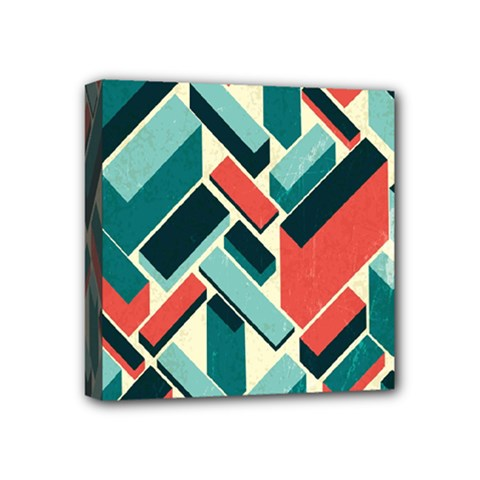German Synth Stock Music Plaid Mini Canvas 4  X 4  by Mariart