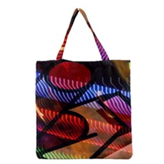Graphic Shapes Experimental Rainbow Color Grocery Tote Bag by Mariart