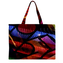 Graphic Shapes Experimental Rainbow Color Zipper Mini Tote Bag by Mariart