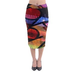 Graphic Shapes Experimental Rainbow Color Midi Pencil Skirt by Mariart