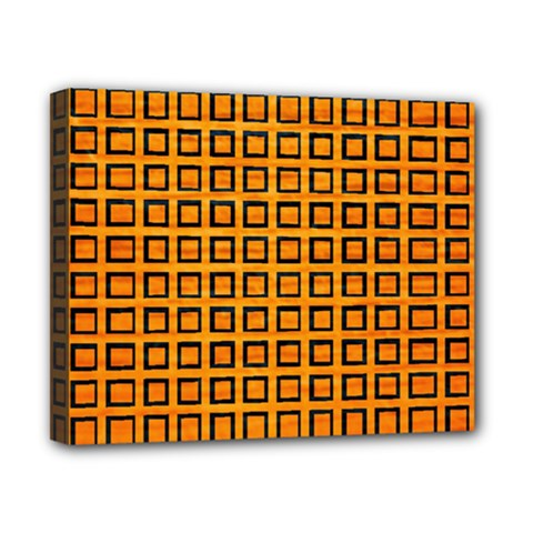 Halloween Squares Plaid Orange Canvas 10  X 8  by Mariart