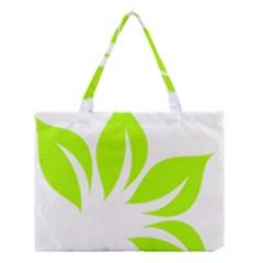 Leaf Green White Medium Tote Bag by Mariart
