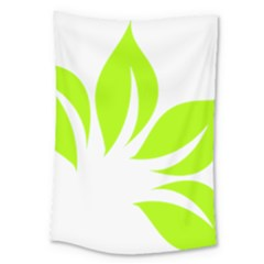 Leaf Green White Large Tapestry by Mariart