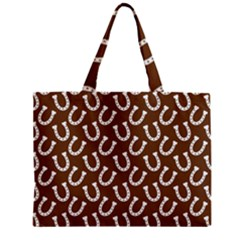 Horse Shoes Iron White Brown Zipper Mini Tote Bag by Mariart