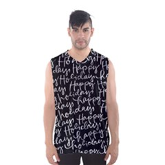 Happy Holidays Men s Basketball Tank Top by Mariart