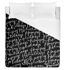 Happy Holidays Duvet Cover (queen Size) by Mariart