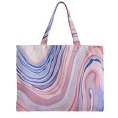 Marble Abstract Texture With Soft Pastels Colors Blue Pink Grey Zipper Mini Tote Bag by Mariart