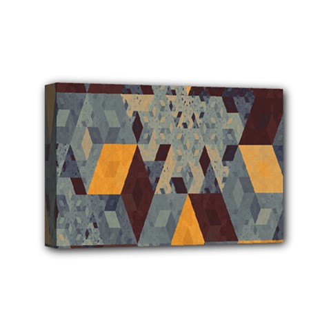 Apophysis Isometric Tessellation Orange Cube Fractal Triangle Mini Canvas 6  X 4  by Mariart