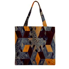 Apophysis Isometric Tessellation Orange Cube Fractal Triangle Zipper Grocery Tote Bag by Mariart