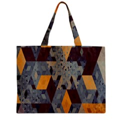 Apophysis Isometric Tessellation Orange Cube Fractal Triangle Zipper Mini Tote Bag by Mariart