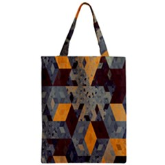 Apophysis Isometric Tessellation Orange Cube Fractal Triangle Zipper Classic Tote Bag by Mariart