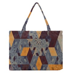 Apophysis Isometric Tessellation Orange Cube Fractal Triangle Medium Zipper Tote Bag by Mariart