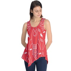 Moon Red Rocket Space Sleeveless Tunic by Mariart