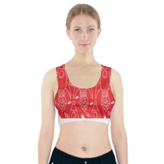 Moon Red Rocket Space Sports Bra With Pocket
