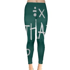 Maths School Multiplication Additional Shares Leggings  by Mariart