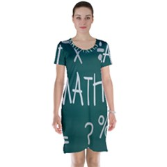 Maths School Multiplication Additional Shares Short Sleeve Nightdress by Mariart