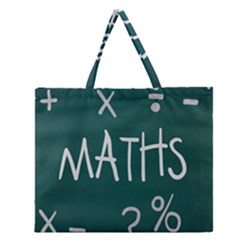 Maths School Multiplication Additional Shares Zipper Large Tote Bag by Mariart