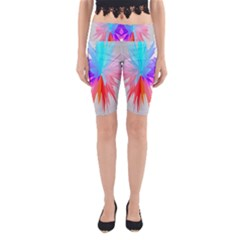 Poly Symmetry Spot Paint Rainbow Yoga Cropped Leggings by Mariart