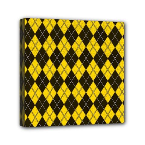 Plaid Pattern Mini Canvas 6  X 6  by Valentinaart
