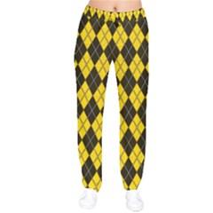 Plaid Pattern Drawstring Pants by Valentinaart