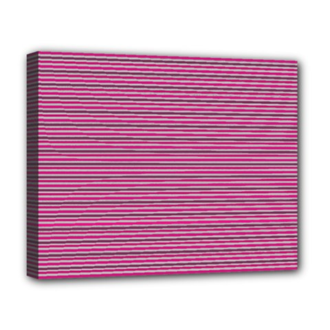 Lines Pattern Deluxe Canvas 20  X 16   by Valentinaart