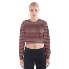 Lines Pattern Cropped Sweatshirt by Valentinaart