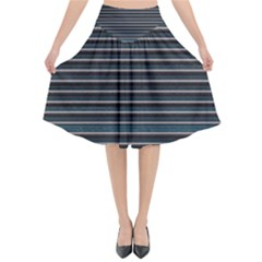 Lines Pattern Flared Midi Skirt by Valentinaart
