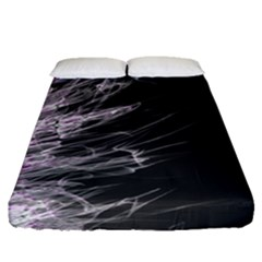Fire Fitted Sheet (queen Size) by Valentinaart
