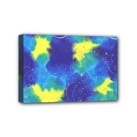 Mulberry Paper Gift Moon Star Mini Canvas 6  X 4  by Mariart