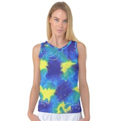 Mulberry Paper Gift Moon Star Women s Basketball Tank Top by Mariart