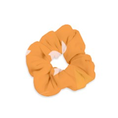Screen Shot Circle Animations Orange White Line Color Velvet Scrunchie by Mariart