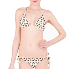 Autumn Leaves Motif Pattern Bikini Set by dflcprintsclothing