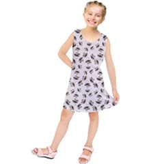 Autumn Leaves Motif Pattern Kids  Tunic Dress by dflcprintsclothing