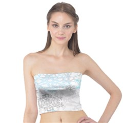 Sign Flower Floral Transparent Tube Top