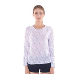 Seamless Horizontal Modern Stylish Repeating Geometric Shapes Rose Quartz Women s Long Sleeve Tee by Mariart