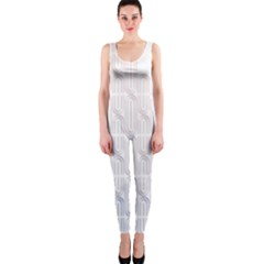 Seamless Horizontal Modern Stylish Repeating Geometric Shapes Rose Quartz Onepiece Catsuit by Mariart