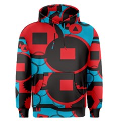 Stancilm Circle Round Plaid Triangle Red Blue Black Men s Pullover Hoodie