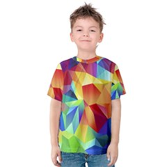 Triangles Space Rainbow Color Kids  Cotton Tee
