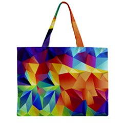 Triangles Space Rainbow Color Zipper Mini Tote Bag by Mariart