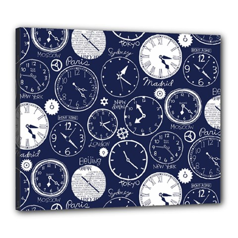 World Clocks Canvas 24  X 20  by Mariart