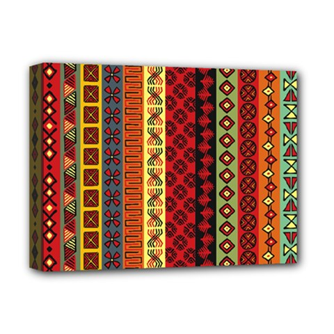Tribal Grace Colorful Deluxe Canvas 16  X 12   by Mariart