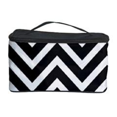 Zigzag Pattern Cosmetic Storage Case by Valentinaart