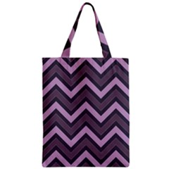 Zigzag Pattern Zipper Classic Tote Bag by Valentinaart