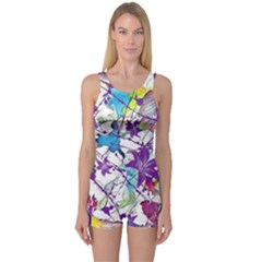 Lilac Lillys One Piece Boyleg Swimsuit