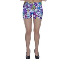 Lilac Lillys Skinny Shorts by designworld65