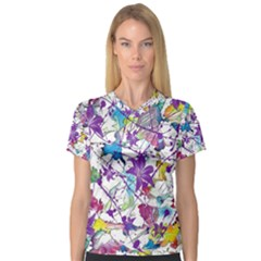 Lilac Lillys Women s V Neck Sport Mesh Tee